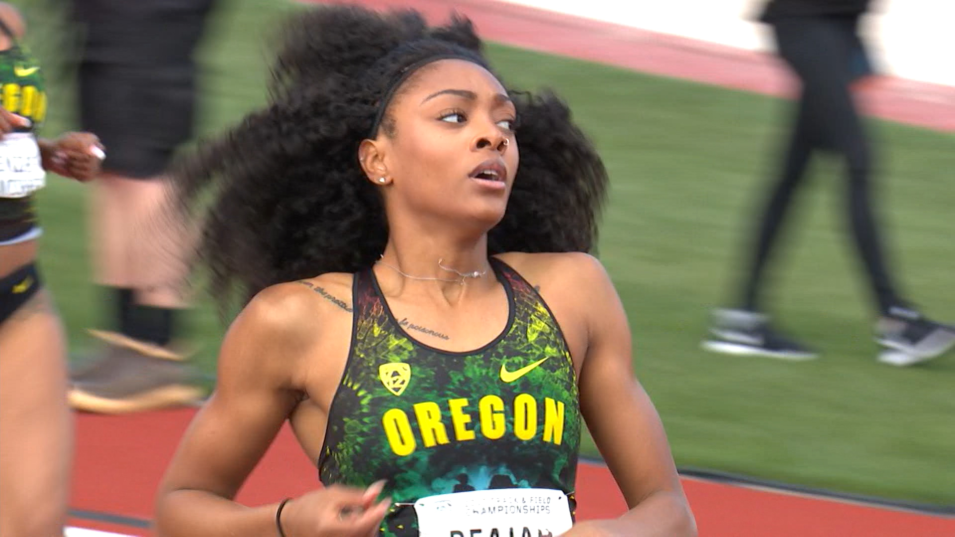 2017 pac 12 track field championships pac 12 uos deajah stevens steamrolls to world leading 200m time to voltagebd Images