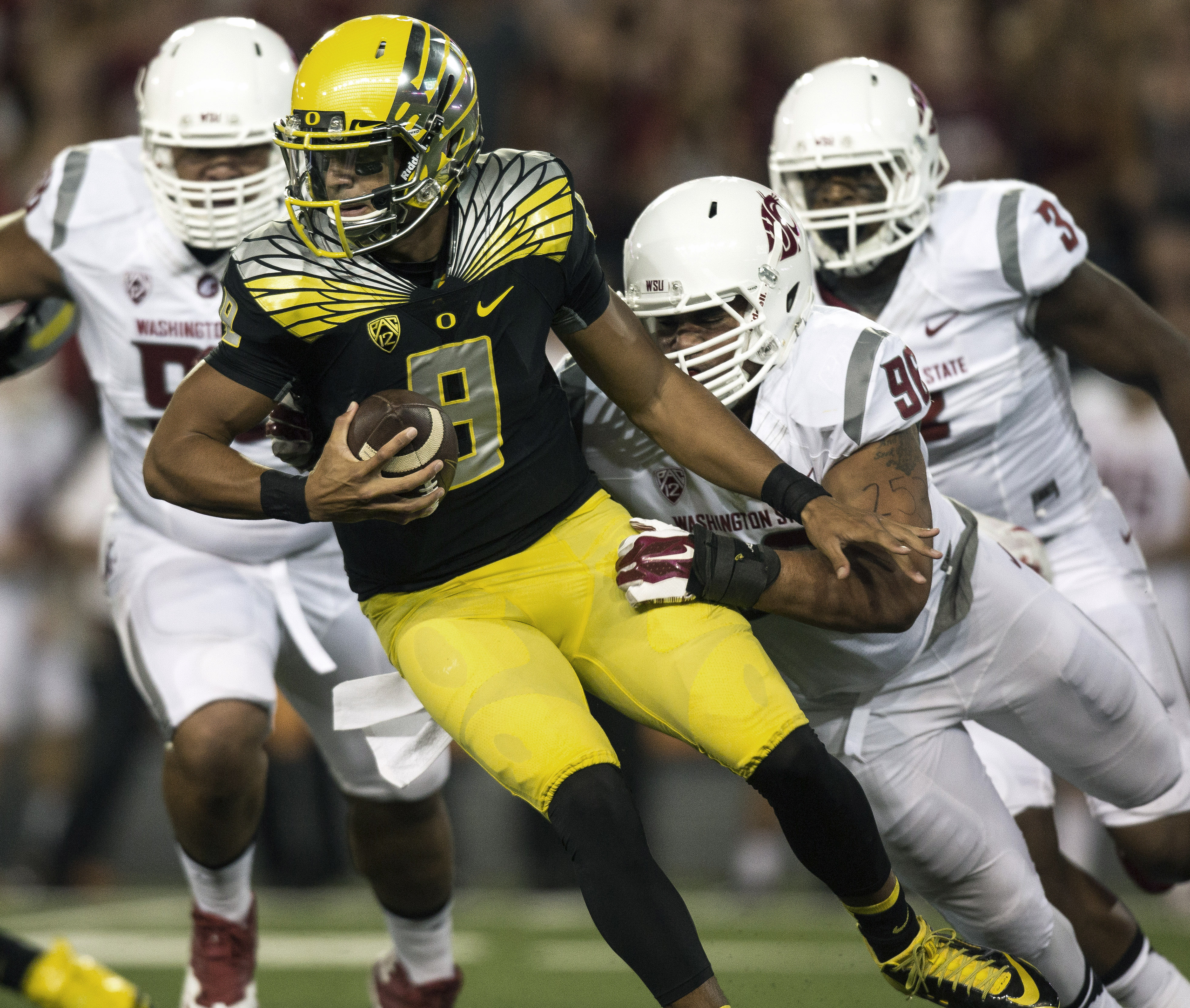check out 14de9 02f90 oregon duck 8 marcus mariota 2014 black with pink name ...