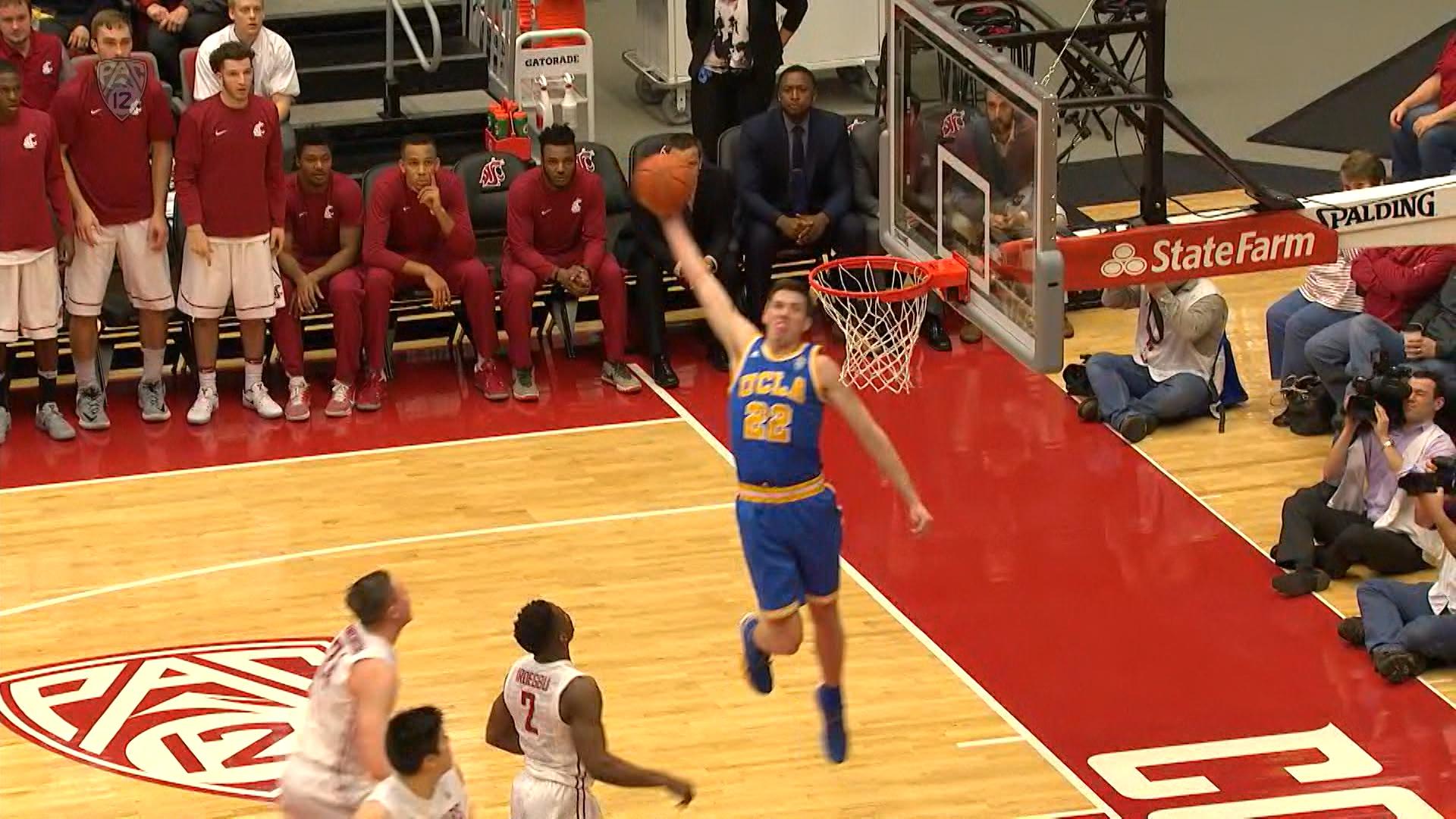 UCLA Mens Basketballs TJ Leaf Throws Down Spicy Alley Oop