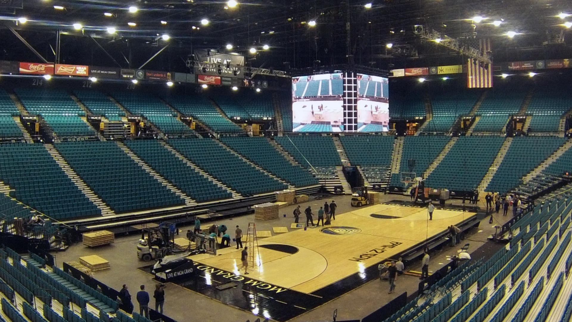 2014 Pac12 Mens Basketball Tournament MGM Grand Garden Arena set