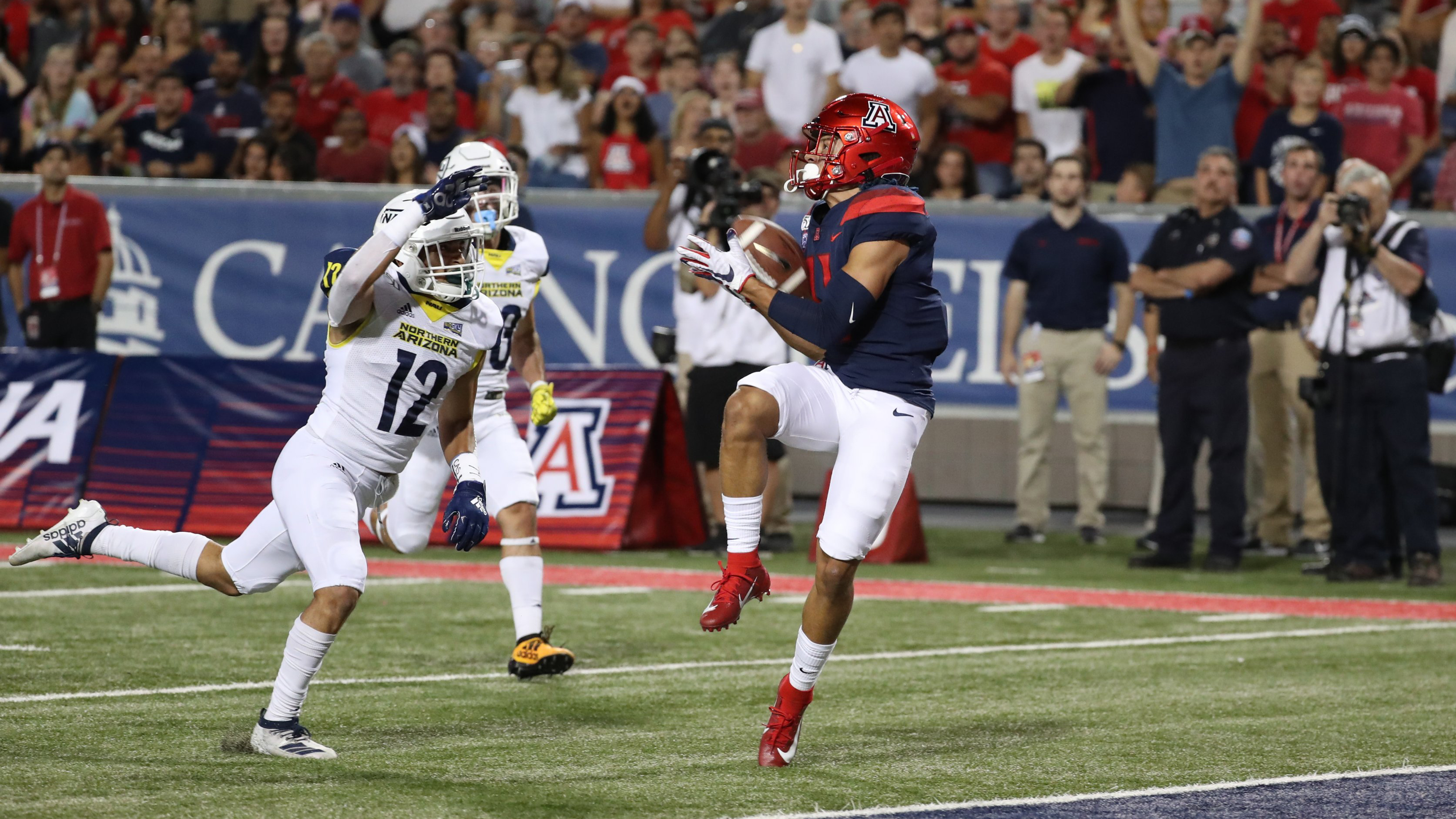 Uofa Football Score >> Northern Arizona Vs Arizona Wildcats Football September 7