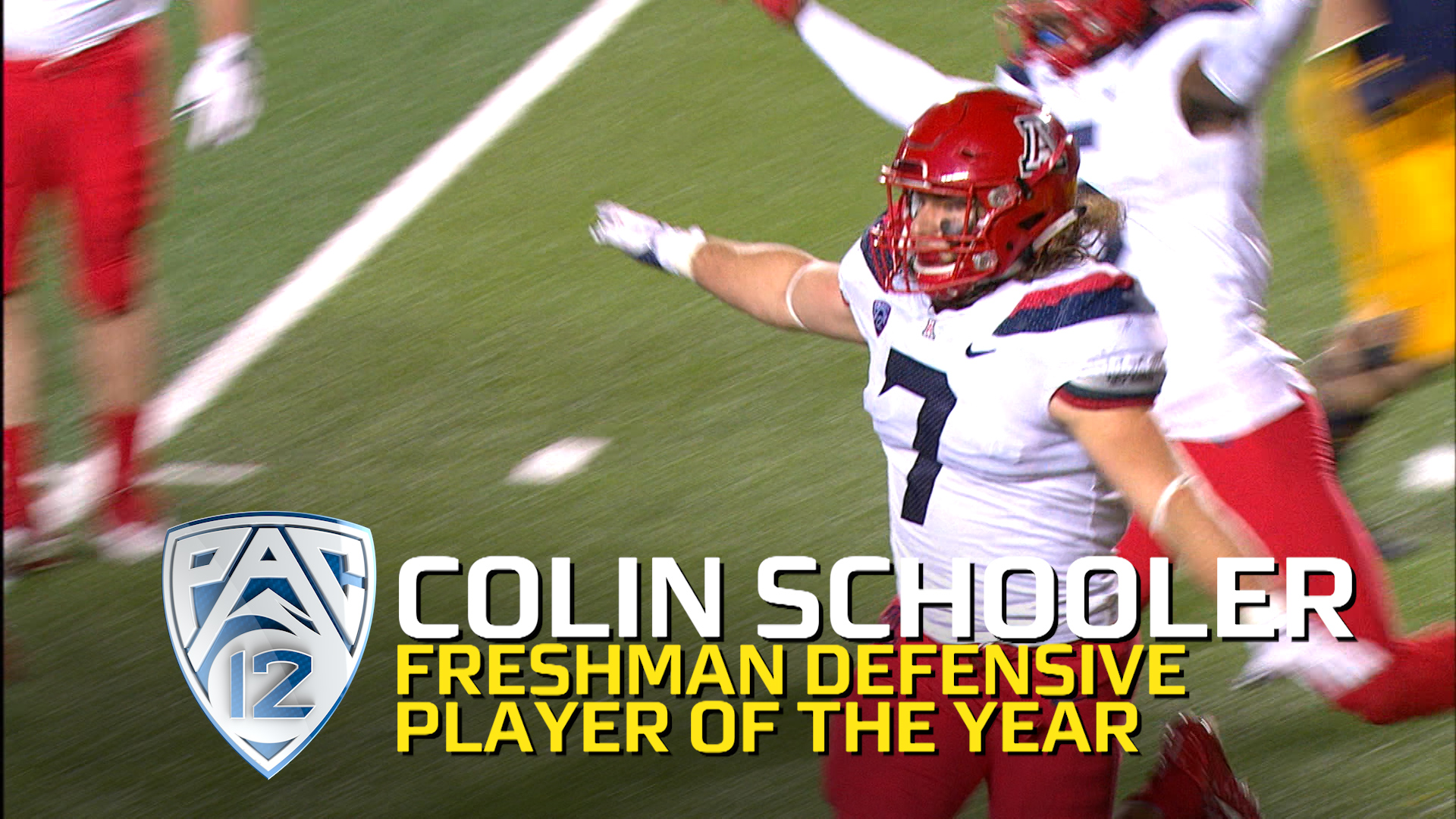 UA s Colin Schooler named Pac 12 Football Defensive Freshman of the Year
