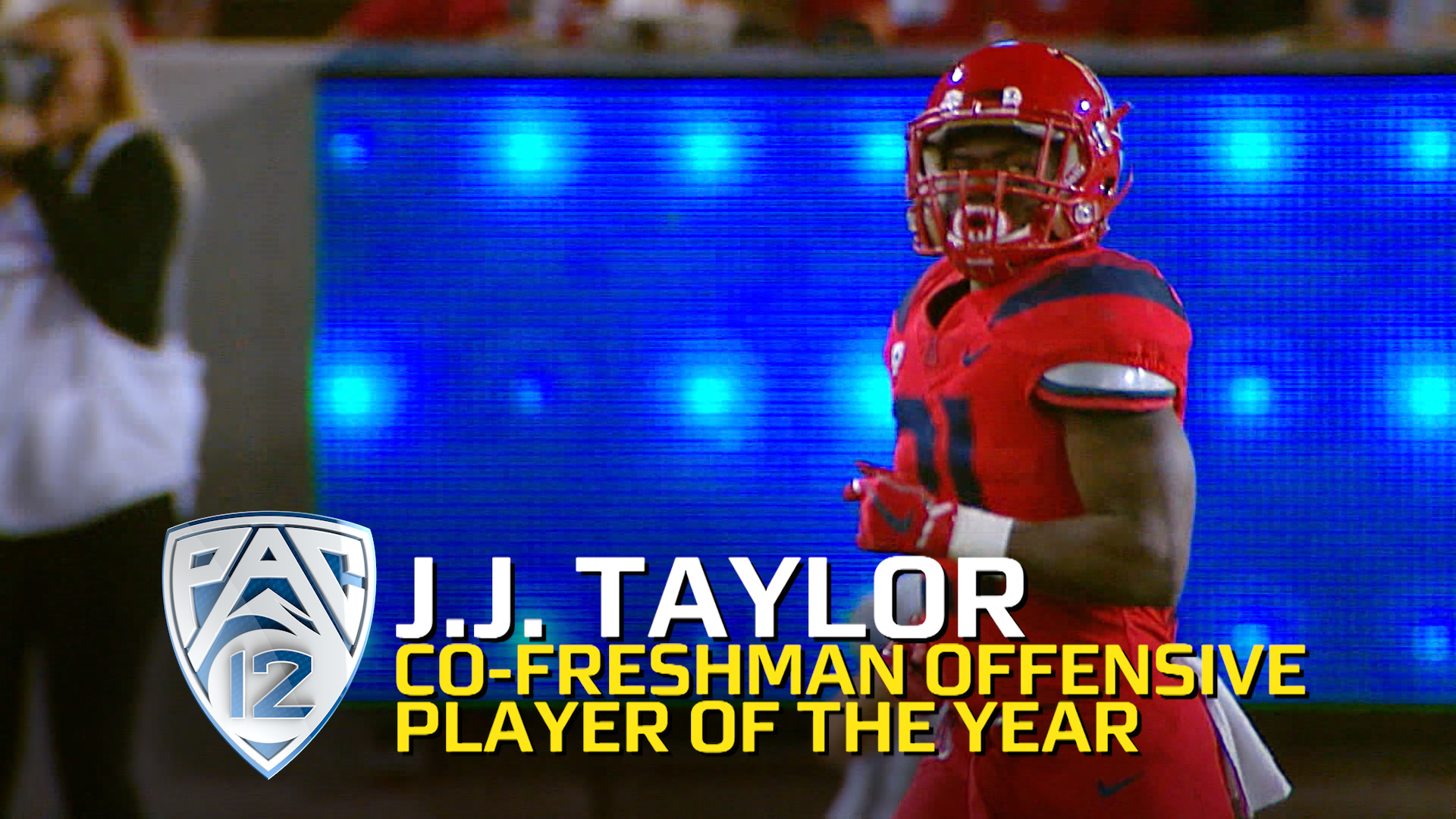 Arizona s J J Taylor claims Pac 12 Co Freshman fensive Player of the Year honors