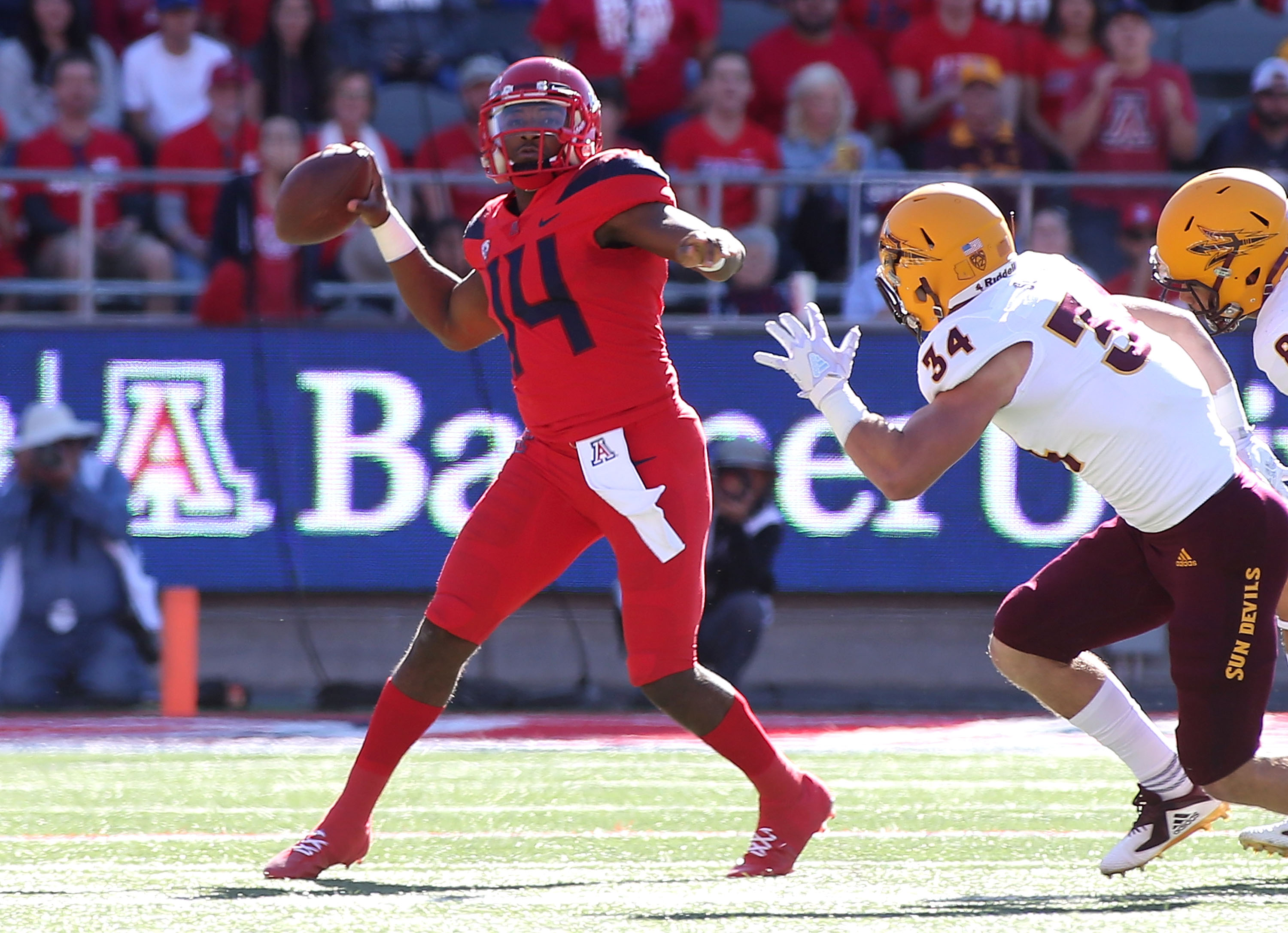 Uofa Football Score >> Arizona State Sun Devils Vs Arizona Wildcats Football