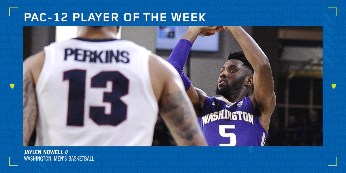 pretty nice d211a 973c5 Washington's Nowell named Pac-12 Men's Basketball Player of ...