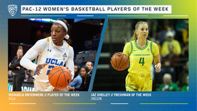 Pac-12 Women's Basketball Players of the Week for December 23.