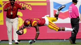 """<p><span style=""""line-height: 1.6em;"""">The Trojans' defense notched</span><a href=""""http://pac-12.com/videos/video-recap-usc-shuts-down-utah-home-0"""" style=""""line-height: 1.6em;"""" target=""""_blank"""">another high-quality performance</a><span style=""""line-height: 1.6em;"""">in limiting Utah quarterback Travis Wilson to 51 passing yards (</span><a href=""""http://pac-12.com/videos/postgame-interview-uscs-leonard-williams-putting-pressure-quarterback"""" style=""""line-height: 1.6em;"""" target=""""_blank"""">here's Leonard Williams talking QB pressure</a><span style=""""line-height: 1.6em;"""">). USC's</span><a href=""""http://pac-12.com/videos/postgame-interview-usc-cody-kessler"""" style=""""line-height: 1.6em;"""" target=""""_blank"""">Cody Kessler passed for 230</a><span style=""""line-height: 1.6em;"""">on the other end of that stifling effort while</span><a href=""""http://pac-12.com/article/2013/10/26/nelson-agholor-shows-his-athleticism"""" style=""""line-height: 1.6em;"""" target=""""_blank"""">Nelson Agholor flashed his athleticism</a><span style=""""line-height: 1.6em;"""">. Ed Orgeron's club</span><a href=""""http://pac-12.com/event/2013/11/01/usc-oregon-state"""" style=""""line-height: 1.6em;"""" target=""""_blank"""">travels to Oregon State</a><span style=""""line-height: 1.6em;"""">next; Utah is off.</span></p>"""