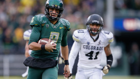 "<p> </p> <ul><li><a href=""http://pac-12.com/marcus-mariota-final-snap-autzen-stadium-oregon"">Marcus Mariota said perhaps his last good-bye at Autzen</a>, and <a href=""http://pac-12.com/videos/recap-marcus-mariota-oregon-football-soar-over-colorado"">Oregon moved one step closer to a conference title</a></li> <li> <div><a href=""http://pac-12.com/royce-freeman-oregon-freshman-1000-yard-season"" style=""line-height: 20.7999992370605px;"">Royce Freeman eclipsed 1,000 rushing yards</a><span style=""line-height: 20.7999992370605px;""> for the season, the first time a true freshman has done so in an Oregon uniform</span></div> </li> </ul>"