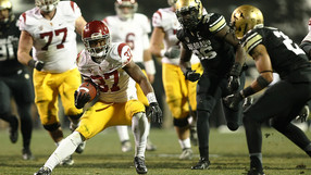 """<p>Javorius Allen rushed for a career-best 145 yards<a href=""""http://pac-12.com/videos/usc-football-colorado-video-recap-47-29"""" target=""""_blank"""">to lead the Trojans to victory</a>in a game that tied for the second-coldest kickoff in USC program history. Quarterback<a href=""""http://pac-12.com/videos/usc-football-cody-kessler-postgame-interview-colorado"""" target=""""_blank"""">Cody Kessler talked about the win</a>afterward.<a href=""""http://pac-12.com/videos/usc-football-ed-orgeron-interview-colorado"""" target=""""_blank"""">Ed Orgeron's</a>squad<a href=""""http://pac-12.com/event/2013/11/30/ucla-usc"""" target=""""_blank"""">returns home to face UCLA</a>, while<a href=""""http://pac-12.com/event/2013/11/30/colorado-utah"""" target=""""_blank"""">Colorado travels to Utah</a>next.</p>"""