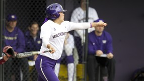 <p>The University of Washington footbal team hosts Stanford at the Husky Softball Stadium in Seattle on Saturday April 20, 2013. (Photo by Stephen Brashear /Red Box Pictures)</p>
