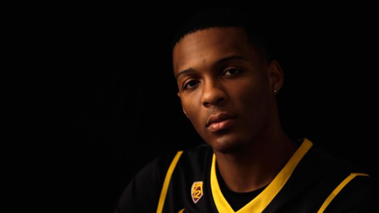 <p>Arizona State Sun Devils sophomore guard Jahii Carson.</p>