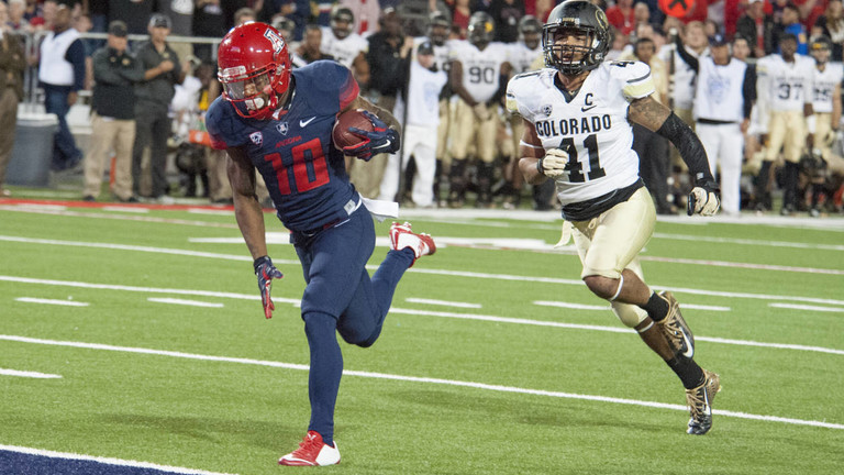 "<ul><li><a href=""http://pac-12.com/videos/recap-arizona-football-uses-turnovers-beat-colorado"">Arizona nabbed an important win over Colorado</a> on Saturday to keep pace in the <a href=""http://pac-12.com/sport/football/standings"">chaotic South Division</a></li> <li><a href=""http://pac-12.com/videos/arizona-footballs-anu-solomon-after-no-19-wildcats-beat-colorado"">Anu Solomon threw for four touchdowns</a> and ran for 115 yards</li> <li><a href=""http://pac-12.com/samajie-grant-jumps-colorado-defender"">Samajie Grant turned heads with this sky-high hurdle</a> over his defender</li> </ul>"