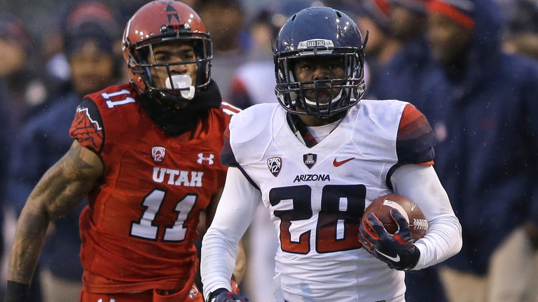"<p><a href=""http://pac-12.com/arizona-vs-utah-nick-wilson-run"">Nick Wilson was dominating on the ground</a>, Arizona's defense <a href=""http://pac-12.com/arizona-football-vs-utah-dan-pettinato-fumble-recovery"">was superb</a>, and the <a href=""http://pac-12.com/videos/highlights-arizona-football-takes-down-utah-salt-lake-city"">Wildcats walked out of Salt Lake City with a huge win Saturday</a>. Although QB Anu Solomon left the game in the second half, Arizona was simply too good on both sides of the ball. <a href=""http://pac-12.com/football/event/2014/11/28/arizona-state-arizona"">Arizona now hosts Arizona State in the Territorial Cup</a>, with both team <a href=""http://pac-12.com/sport/football/standings"">hoping for a UCLA loss</a>. <a href=""http://pac-12.com/football/event/2014/11/29/utah-colorado"">Utah finishes the season off at Colorado</a>.</p>"