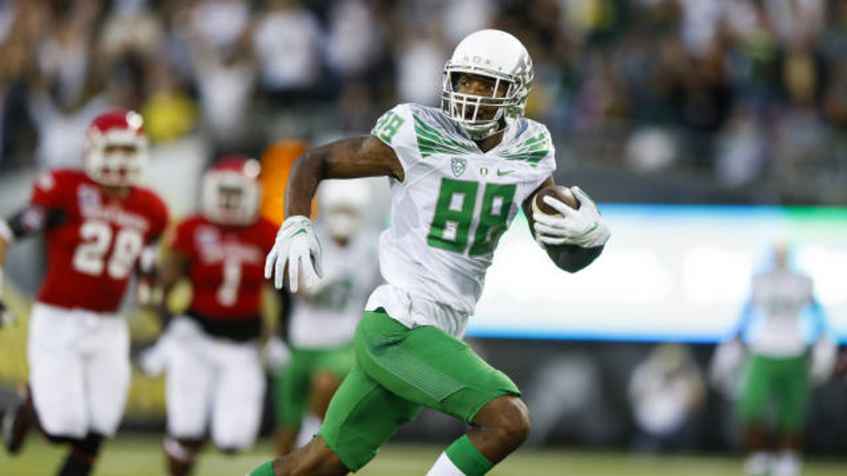 "<p>The Ducks had an easy time opening their season season against South Dakota, rolling 62-13. <a href=""http://pac-12.com/article/2014/08/30/video-royce-freeman-scores-two-touchdowns-ducks-debut"" target=""_blank"">Royce Freeman</a><a href=""http://pac-12.com/article/2014/08/30/video-royce-freeman-scores-two-touchdowns-ducks-debut""> scored twice in his debut</a>, while <a href=""http://pac-12.com/article/2014/08/30/video-marcus-mariota-scores-four-touchdowns-just-one-half-play"">Marcus Mariota </a><a href=""http://pac-12.com/article/2014/08/30/video-marcus-mariota-scores-four-touchdowns-just-one-half-play"" target=""_blank"">tallied four touchdowns in one half</a>. <a href=""http://pac-12.com/videos/postgame-interview-byron-marshall-reflects-ducks-season-opener"">Byron Marshall </a><a href=""http://pac-12.com/videos/postgame-interview-byron-marshall-reflects-ducks-season-opener"" target=""_blank"">spoke</a> afterward. <a href=""http://pac-12.com/football/event/2014/09/06/michigan-state-oregon"">Oregon hosts Michigan State next Saturday in a massive battle.</a></p>"