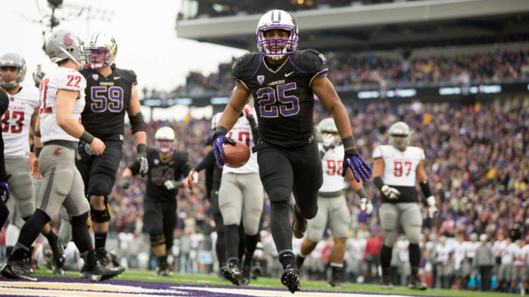"""<p><a href=""""http://www.gohuskies.com/ViewArticle.dbml?DB_OEM_ID=30200&amp;ATCLID=209326723"""" target=""""_blank"""">Bishop Sankey's 200 rushing yards</a>paved the way for a second-half Washington comeback and<a href=""""http://pac-12.com/videos/highlights-washington-state-washington-reclaims-apple-cup"""" target=""""_blank"""">revenge in the Apple Cup</a>, resulting in Steve Sarkisian's firsteight-win season in Seattle. Both the Huskies and Cougars are bowl eligible. Stay tuned for selections on<span data-term=""""goog_140200988"""" tabindex=""""0"""">Dec. 8</span>.</p>"""