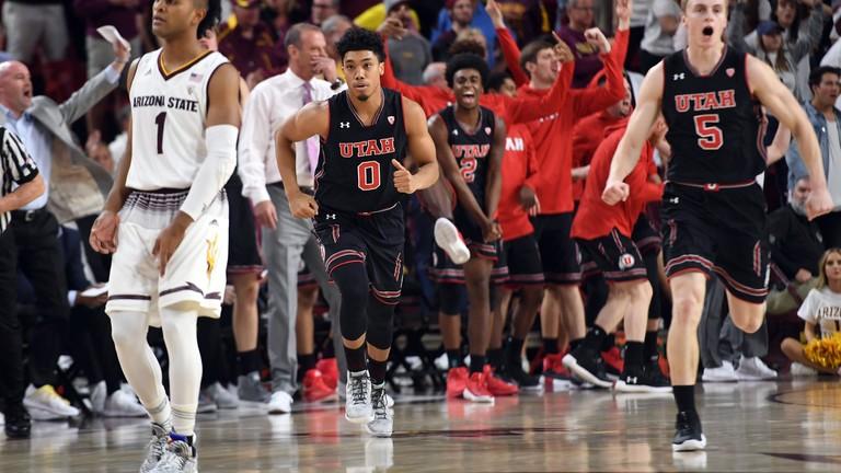 utah utes vs arizona state sun devils men s basketball january 25