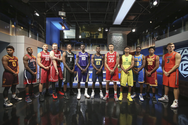 Pac-12 players in studio for Media Day