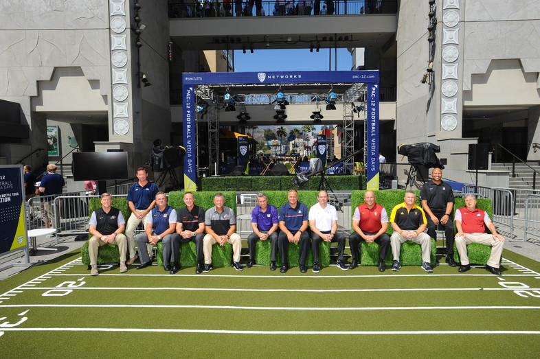 All 12 Pac-12 head football coaches hang out at 2016 Media Days.