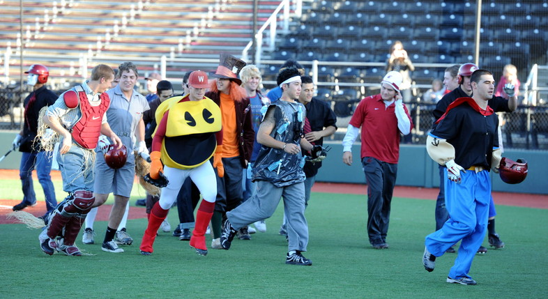<p>A fall baseballscrimmagefor the Cougars featured everyone from the Big Lebowski and 80's video game icons to classic cartoon characters.</p>