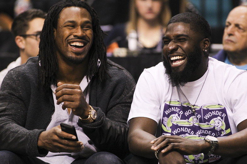 <p>Current Atlanta Falcons running back Steven Jackson (Oregon State 2001-2003) and wide receiverDrew Davis (Oregon 2007-2010) attended the Oregon and Oregon State first round game on Wednesday night.</p>