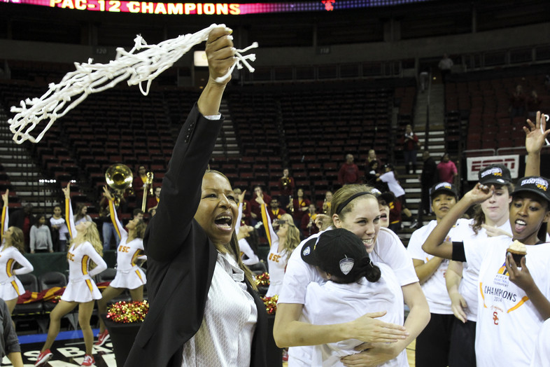 <p>The Trojans surprised the Cardinal in the Pac-12 Women's Basketball Tournament semifinals, then rode that momentum to a conference title March 9 in Seattle. Cynthia Cooper made a big splash in her first season at the helm.</p>