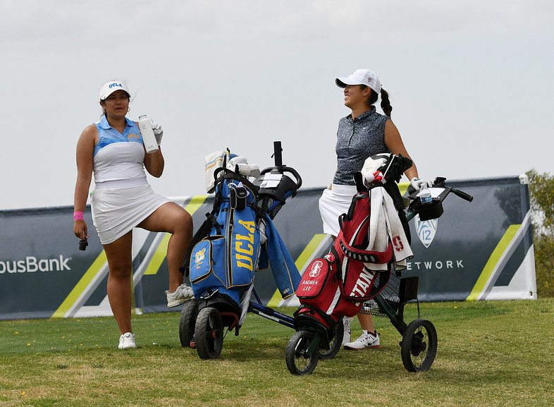 UCLA's Lilia Vu and Stanford's Andrea Lee were paired on day 2, and finished the day high on the leaderboard