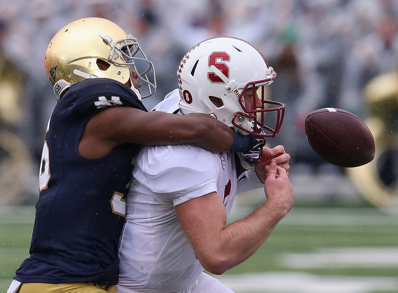 """<p>Stanford came up a touch short in South Benddespite another<a href=""""http://pac-12.com/article/2014/10/04/stanfords-defense-shines-loss-notre-dame"""" target=""""_blank"""">sterling effort from itsdefense.</a>The offense struggled on a soggy day, netting just<a href=""""http://pac-12.com/videos/highlights-stanford-falls-late-notre-dame"""" target=""""_blank"""">205 yards as the Cardinalfell to the Fighting Irish.</a>Stanford returns to conference play next week, <a href=""""http://pac-12.com/football/event/2014/10/10/washington-state-stanford"""" target=""""_blank"""">hosting WSU in a true contrast of styles.</a></p>"""