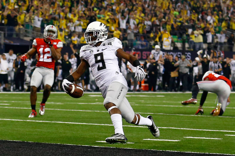 <p>Byron Marshall with the 70-yard touchdown catch on the third quarter.</p>