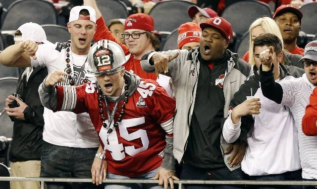 <p>Ohio State fans were well represented in Arlington.</p>