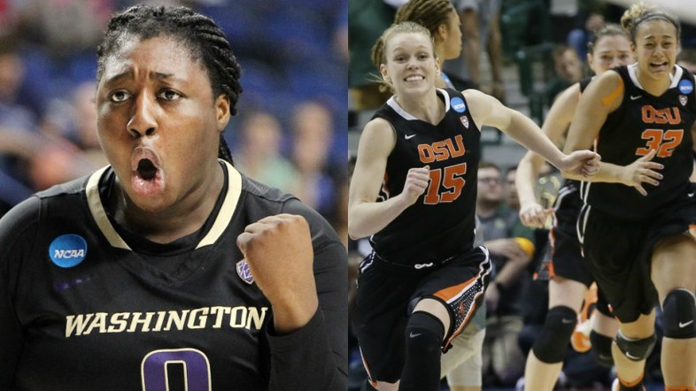 """<p>APRIL - Pac-12 showed just how stacked it's women's basketball teams are, with both <a href=""""http://pac-12.com/videos/washington-advances-first-final-four-school-history-win-over-stanford"""" target=""""_blank"""">Washington</a> and <a href=""""http://pac-12.com/videos/highlights-oregon-state-womens-basketball-advances-final-four-tight-win-over-baylor"""" target=""""_blank"""">Oregon State</a> making it to the NCAA Final Four.</p>"""
