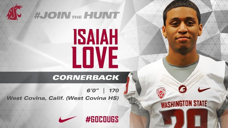 """<p>The Cougs welcome their newest cornerback, <a href=""""https://twitter.com/wsucougfb/status/826869602760093696"""" target=""""_blank"""">Isaiah Love, to The Palouse with this infographic</a>.</p>"""