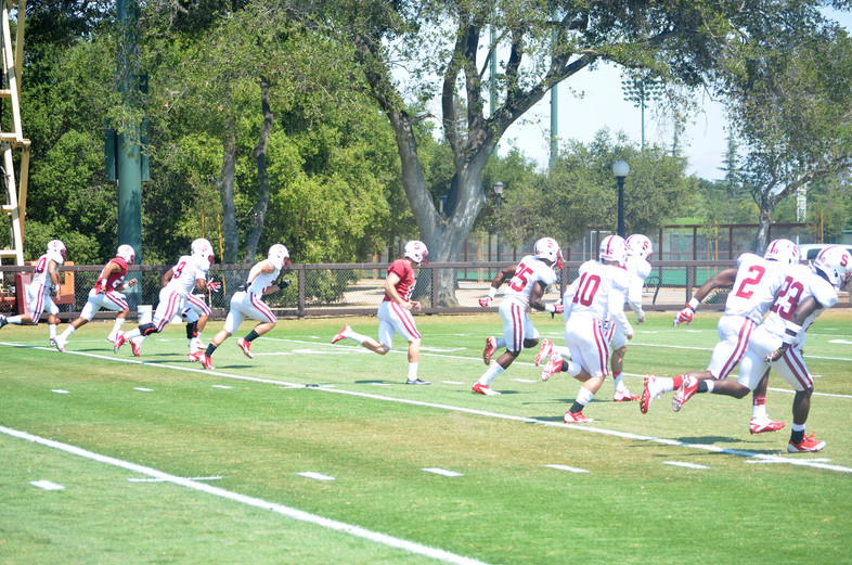 Photos: Stanford Football Training Camp shoot
