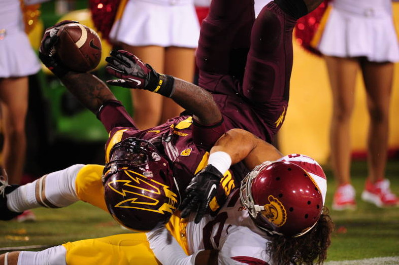 """<p>The Lane Kiffin era is over at USC. Hours after the<a href=""""http://pac-12.com/videos/highlights-arizona-state-football-races-past-usc-shootout"""" target=""""_blank"""">Sun Devils gashed USC's previously sturdy defense</a>to the tune of 612 yards, the Trojans<a href=""""http://www.usctrojans.com/sports/m-footbl/spec-rel/092913aaa.html"""" target=""""_blank"""">fired their head coach</a>. Troy enters its bye week, while ASU must immediately prepare for another marquee matchup after its high-octane performance as the Devils meet<a href=""""http://pac-12.com/event/2013/10/05/arizona-state-notre-dame"""" target=""""_blank"""">Notre Dame atCowboys Stadium in Arlington, Texas.</a></p>"""