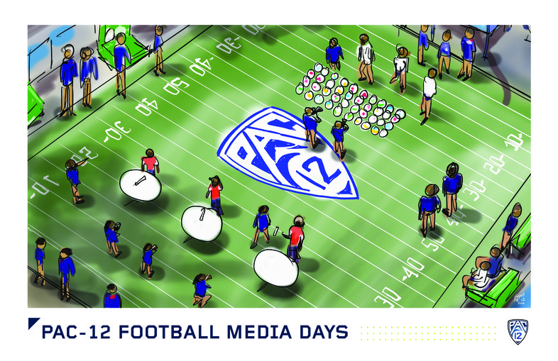 <p>Coaches and student-athletes participated in an array of games and competitions before appearing live on Pac-12 Networks.</p>