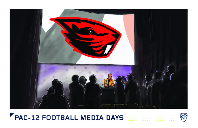<p>Oregon State coach Gary Andersen addesses the media on Friday.</p>