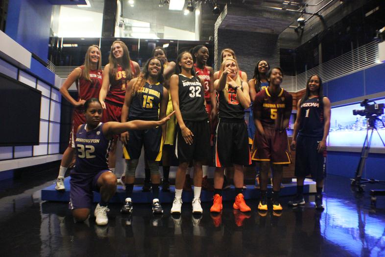 Photos: 2013 Pac-12 Women's Basketball Season Tip-off group photos