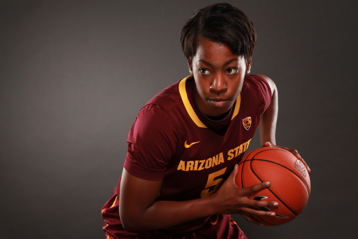 <p>Arizona State guard Deja Mann</p>