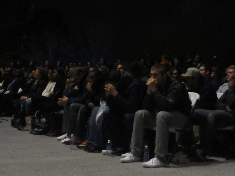 Gallery: candlelight vigil for Cal's Ted Agu