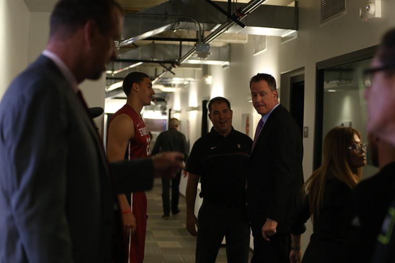 Stanford's Reid Travis & Pac-12 Networks' Don MacLean