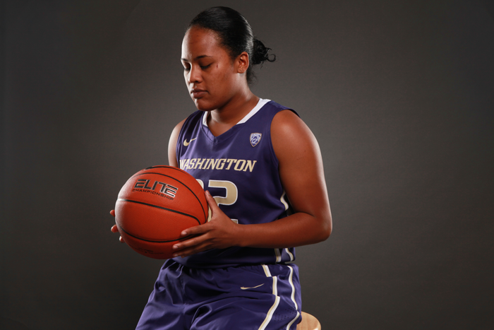 <p>Washington guard Jazmine Davis</p>