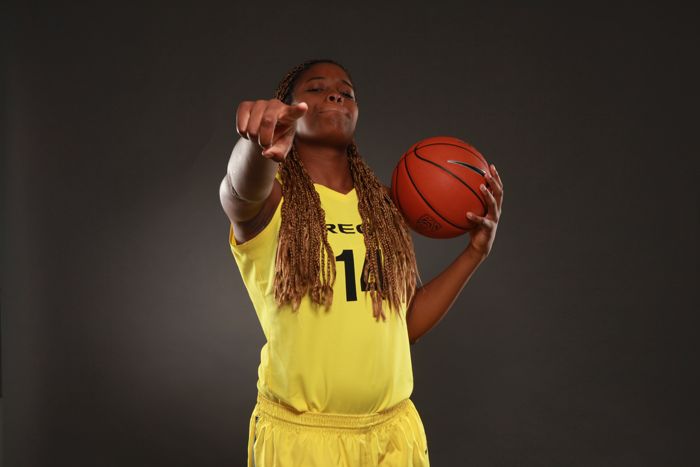 <p>Oregon forward Jillian Alleyne</p>