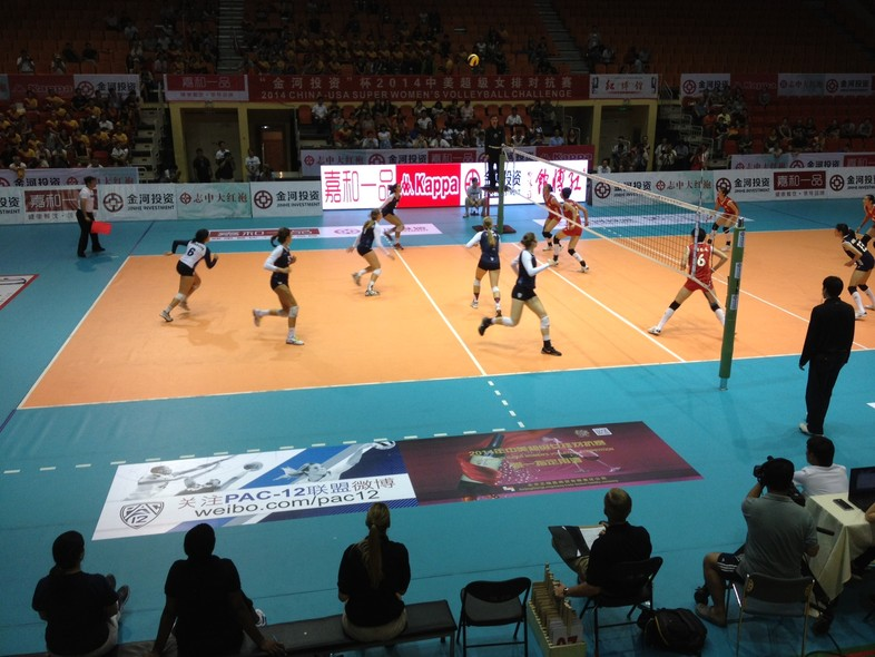 <p>The Pac-12 all-stars got back into game action on Tuesday, losing a five-set match to the Chinese Junior National Team in Beijing.</p>