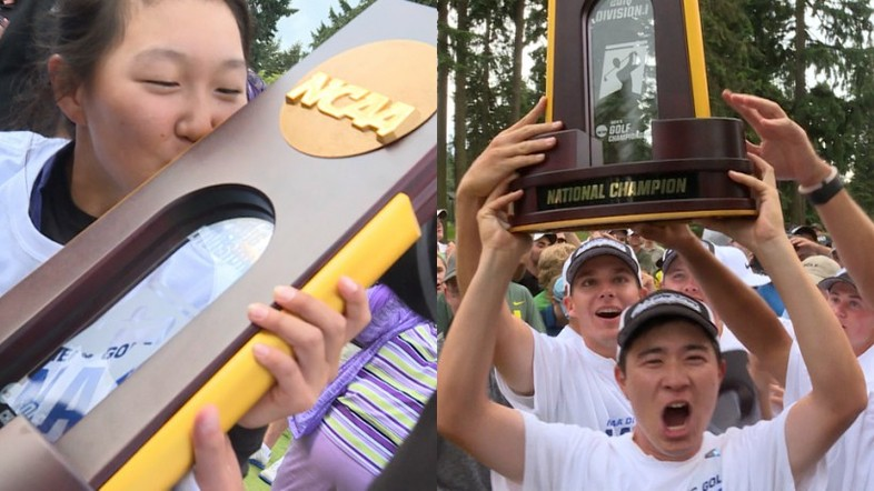 """<p>MAY - The Conference of Champions lived up to it's name this month, taking the NCAA titles in both women's (<a href=""""http://pac-12.com/videos/washington-women-celebrate-first-ever-ncaa-golf-championship"""" target=""""_blank"""">Washington</a>) and men's (<a href=""""http://pac-12.com/videos/ducks-celebrate-their-first-ncaa-mens-golf-team-title-program-history"""" target=""""_blank"""">Oregon</a>) golf.</p>"""