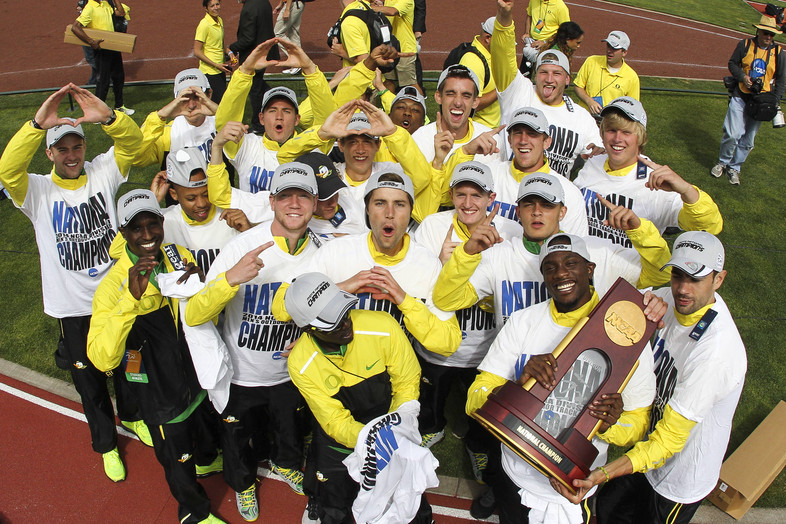 The Oregon men's track & field team finished the year for the Pac-12 with an NCAA title in the outdoor arena. UO set a meet record with 88 points to take home the trophy.