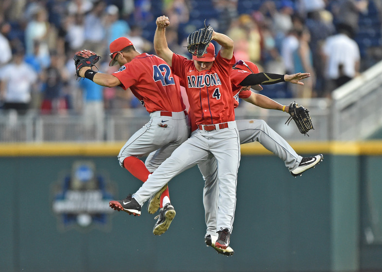 """<p>JUNE - Arizona baseball made it all the way to the Big Show, <a href=""""http://pac-12.com/videos/arizona-fans-turn-omaha-wildcat-country-college-world-series"""" target=""""_blank"""">earning a spot in the College World Series</a> for the eighth time in program history.</p>"""