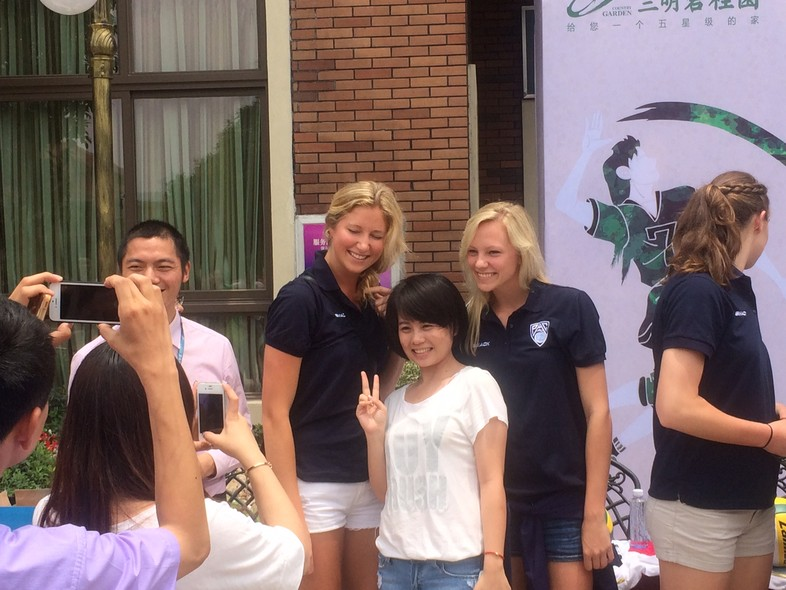 <p>On Thursday, members of the Pac-12 all-star team signed autographs and met with local members of the Sanming community.</p>