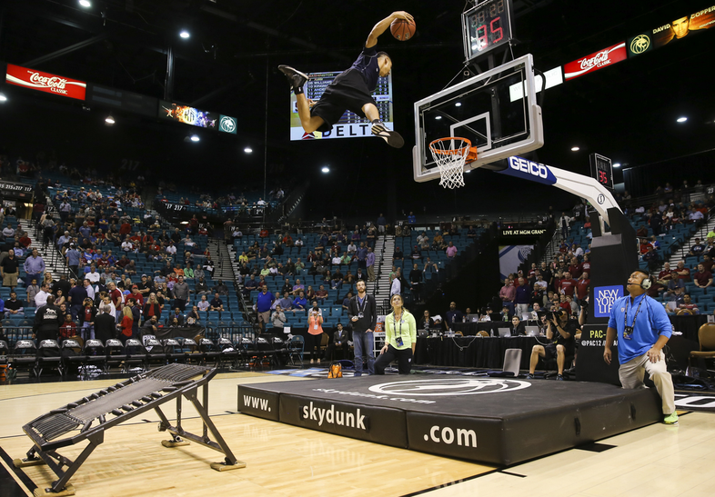 Throw it down one time, professional slam dunk guy. Throw. It. Down.