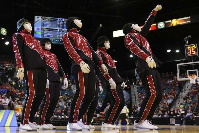 The Jabbawockeez bring down the house every time. But were they wearing Stanford or Utah's colors?