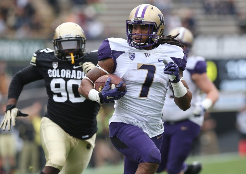 """<p>Washington continued its <a href=""""http://pac-12.com/article/2014/11/01/washington-makes-most-forced-turnovers"""">trend of defensive touchdowns</a>while itsoffense filled in the rest to nab an<a href=""""http://pac-12.com/live/2f7c2eaf6a634d77ace2a5015c212a8f"""">important road win over Colorado</a>. Shaq Thompson, who leads the team with four defensive touchdowns on the season, <a href=""""http://pac-12.com/videos/washingtons-shaq-thompson-reflects-big-rushing-day-win-vs-colorado"""">rushed for a career-high 174 yards</a>. <a href=""""http://pac-12.com/football/event/2014/11/08/ucla-washington"""">The Huskies host UCLA next week</a>, while <a href=""""http://pac-12.com/football/event/2014/11/08/colorado-arizona"""">Colorado travels to Arizona</a>.</p>"""