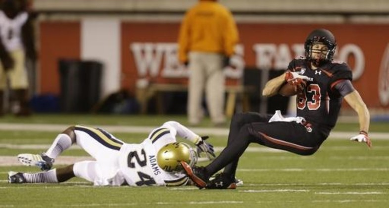 "<p>A <a href=""http://pac-12.com/article/ucla-myles-jack-interception-utah"" target=""_blank"">spectacular performance</a> from the Bruins' secondary helped UCLA <a href=""http://pac-12.com/videos/highlights-ucla-football-defeats-utah-34-27"" target=""_blank"">overcome a dangerous game</a> in the cold Salt Lake City rain. Baby Blue intercepted Travis Wilson six times before Brett Hundley entered overdrive to create separation late. <a href=""http://pac-12.com/event/2013/10/12/stanford-utah"" target=""_blank"">Utah hosts another big one against Stanford</a> next weekend, while <a href=""http://pac-12.com/event/2013/10/12/california-ucla"" target=""_blank"">UCLA hosts Cal</a>.</p>"